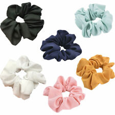 Lady Trendy Hair Scrunchie Ring Elastic Bobble Sports Dance Scrunchie Yellow