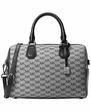 Michael Kors Studio Mercer Medium Heritage Logo Duffel Black Grey