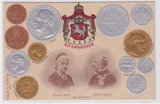 88544 Präge Ak mit Münzabbildungen Alt- Hannover 1907