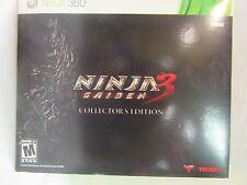 Ninja Gaiden 3 Collector's Edition Xbox 360 SEALED Microsoft Tecmo