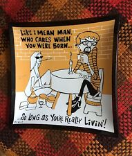 Vintage Beatnik Glass Ashtray Flair Humor Cheeky Kitschy 1970s