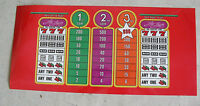 Vintage Thin Plastic The Drop Red Slot Machine Payout Face Plate Insert LOOK