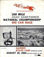 08-18-1962 100 MILE USAC NATIONAL CHAMPIONSHIP BIG CAR RACE PROGRAM