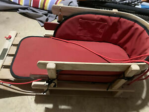 """VINTAGE 40"""" L.L. BEAN WOODEN WINTER SLED HOLIDAY ACTIVITY MADE IN CANADA"""