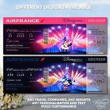 Disneyland Flight Ticket Boarding Pass Paris Florida California Disney World Air