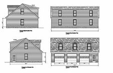 Gable Garage Plan 30'X44' 30'X42' 30'X46' Gable Roof Many Sizes Customization
