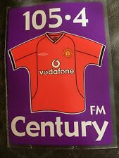 MANCHESTER UNITED CAR STICKER c2001 'CENTURY 105.4 FM'