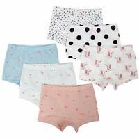 703ef0b82334 6-Pack Toddler Little Girls' Boyshort Panties Kids 100% Cotton Underwear 2-