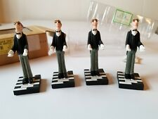 BOMBAY CO. Vintage BENTLEY PLACE Card Holders~Set of 4 In Box! Royal Wedding EXC