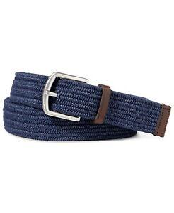 Polo Ralph Lauren Men's Stretch Waxed Belt Navy-Size Large 34-36
