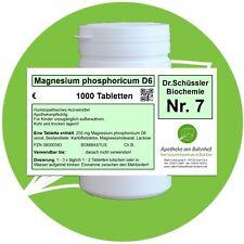 Schüßler - Salz 7 Magnesium phos. D6 glutenfrei 1000 Tabletten PZN 08000583