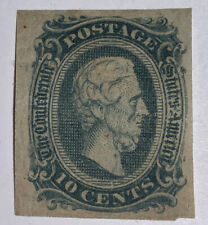 Travelstamps: 1860's US Stamps CONFEDERATE STATES CSA, 10 cents, Jefferson Davis
