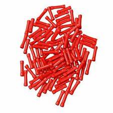 100Pcs Red Butt Wire Connectors Crimp Terminals Electrical 22-18 AWG NEW