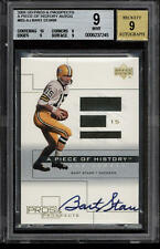 Bart Starr 2001 Upper Deck Pros & Prospects Piece of History Auto Jersey BGS 9