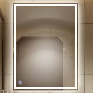 Badspiegel mit LED Beleuchtung Wandspiegel Badezimmerspiegel 70x50cm