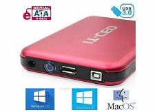 "IT735 USB 3.0 External Hard Drive Enclosure for 3.5"" SATA HDD w/ USB3 Lead Red"