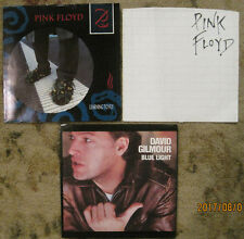 LOT of 3 PINK FLOYD / David Gilmour 45rpm PICTURE SLEEVES ONLY!!