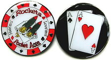 Pocket Aces Rockets Pair Poker Card Guard Table Chips Coin