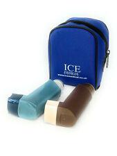 Royal Blue ICE Medical 2 Inhaler Medication Bag Case (Small) - Asthma, Travel,