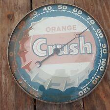 60 NY PAM ORANGE CRUSH SODA ART ADVERTISING THERMOMETER SIGN NON PORCELAIN METAL