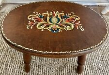 New listing Vintage 1977 J. Adams Amish Pa Wooden Dutch Foot Stool Hand Painted~Signed Euc