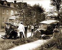 "1922 Auto Wreck Vintage Old Photo 8.5"" x 11"" Reprint"