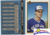 1990 Bowman #486 Nolan Ryan Wrong Front ERROR Card! Vintage over 20 Years Old!
