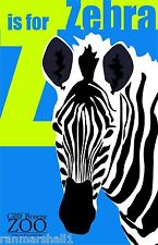 Z for Zebra Gulf Breeze Zoo Florida United States Advertisement Art Poster
