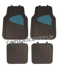 Peugeot Bipper Tepee - Black/Blue HEAVY DUTY Front Rear RUBBER CAR Floor MATS