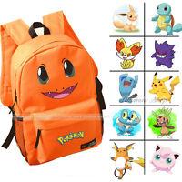 [16 Style] Pokemon Large School Backpack Pikachu Characters Girl Boy Book Bags