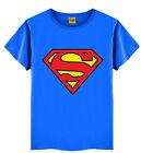 1-7Y Infantil Bebé Niño Verano Superman Manga Corta Camiseta Camiseta De Algodón