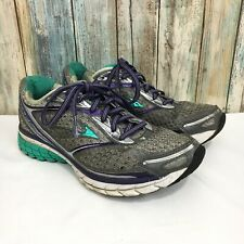 Brooks Ghost 7 Womens Size 7 Gray Purple Green Lace Up Athletic Running Shoes