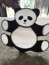 Vintage Retro Handmade Stained Glass Panda Animal Gift