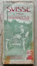Schweiz J FREY Offizielle Karte des Automobil-Club éd Kummerly & Frey ( 1913 ? )