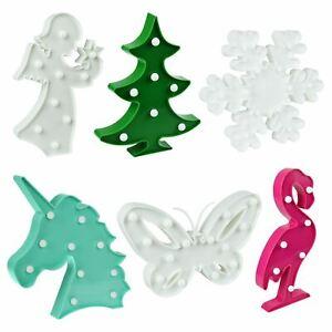 3D LED Night Light Kids Christmas Angel Bedside Wall Table Shape Lighting Lamp