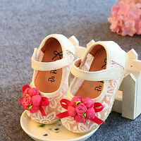 New Baby Girls Christening Shoes in White, Pink,Blue,Red  3 6 9 12 15 18 Months
