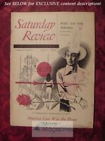 Saturday Review July 1 1950 JERRE MANGIONE LOUIS FISCHER MELVILLE CANE