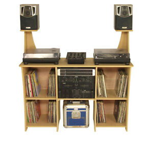 DJ Deck Stand, DJ Furniture workstation DJ Desk Table Inc Speaker Stand (DS1/SS)