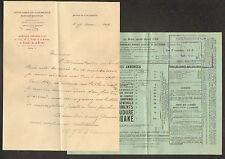 """PARIS (VII°) ANNUAIRE DU COMMERCE DIDOT-BOTTIN """"LE VICOMTE DE LA BAUME"""" en 1919"""