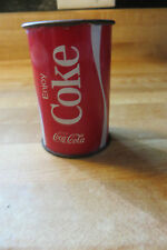 Enjoy Coca-Cola,Coke advertising mini steel can,no lid,old design collectible