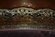 WONDERFUL FILIGREE GOLD VANITY TRAY WITH HANGER FOR TO USE AS A WALL MIRROR