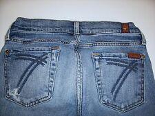 Seven 7 For All Mankind DOJO Cropped Capri Jeans sz 26 Distressed