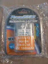 BRAND NEW POWER 2000 ACD 273 RECHARGEABLE BATTERY FOR NIKON EN-EL9A 7.4V 1800mAh