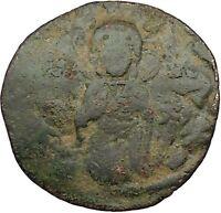 JESUS CHRIST Ancient Christian Byzantine Nicephorus III Follis1078AD Coin i39439