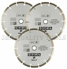 "3pk 7-1/4"" Segmented Diamond Saw Blades Dry Masonry Concrete Sawing Cutting Dry"