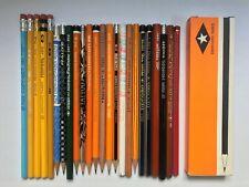 24 VINTAGE EBERHARD FABER PENCILS: DECORO, TATTOO, VAN DYKE, MONGOL, JEANS, +BOX