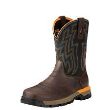 Ariat Rebar Flex Work Boots Composite Toe Pull On Leather Men 10021480