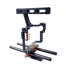 Commlite DSLR 15mm Rod Rig Camera Video Cage Kit Stabilizer +Top Handle Grip New