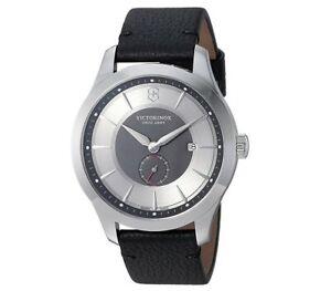 Victorinox Swiss Army Men's Alliance Leather Strap Watch - Authorized Dealer