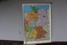Alte Schulwandkarte Rollkarte Lehrtafel Deutschland BRD Wenschow Reliefkarte